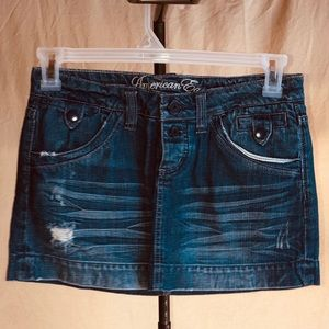 American Eagle Outfitters mini jean skirt